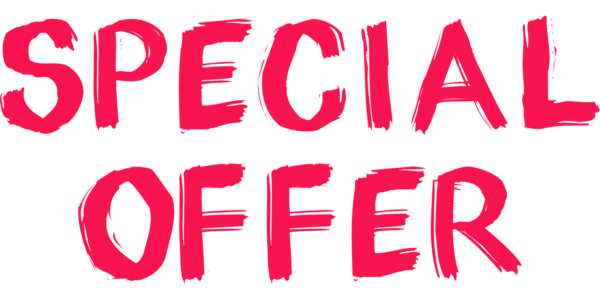 Special Offer written in decorative, red font