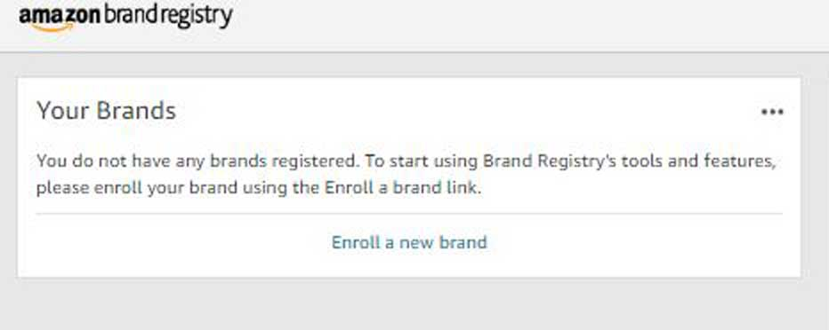 Amazon Brand Registry Step 4 Enroll a New Brand