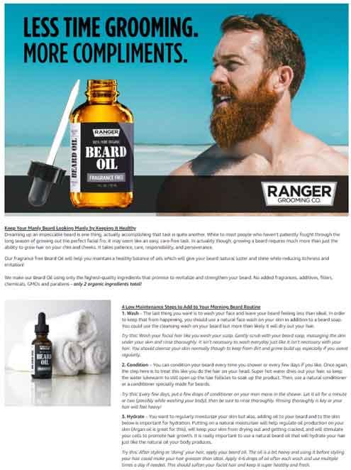 Beard Oil Amazon EBC Example