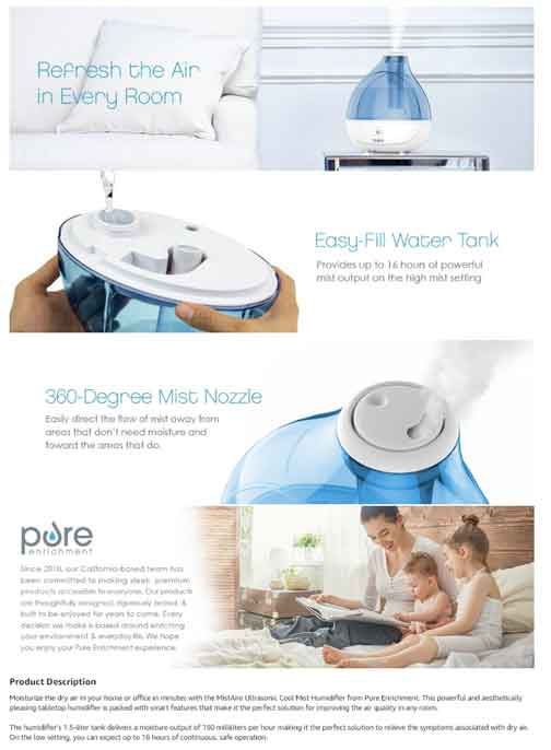 Puracy Humidifier Amazon EBC Example