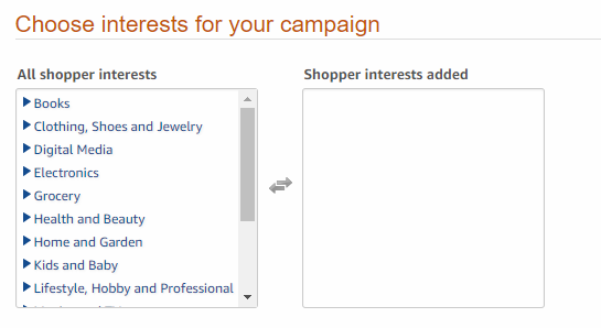 Amazon Interest Targeting - Sponsored Brand Ads