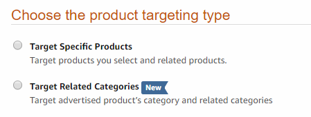 Amazon Product Targeting Type