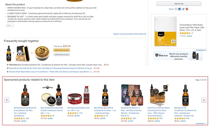 Sponsored Brand Ads on Product Detail Page