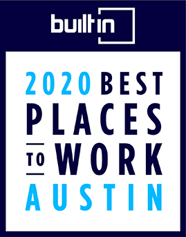 BuiltInATX Best Places to Work Badge