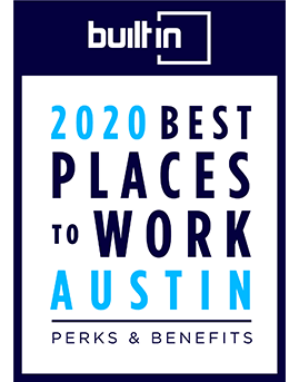 BuiltInATX Best Perks & Benefits Badge