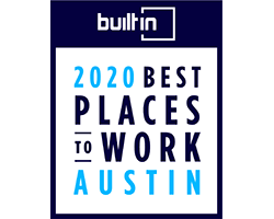 Built in Austin 2020 Best Places to Work Badge