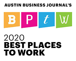 Austin Business Journal's 2020 Best Places to Work Logo
