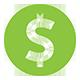green dollar sign icon