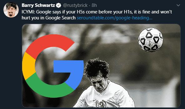Google Algorithm Twitter Example