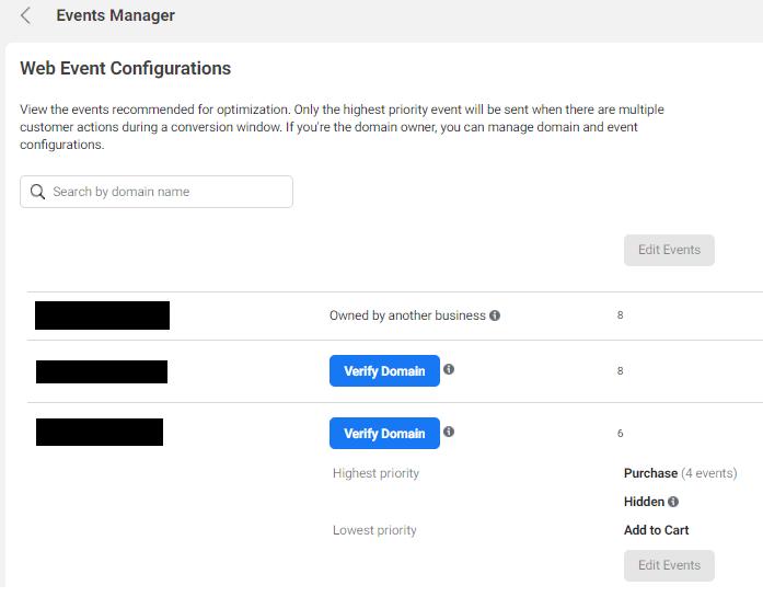 Verify Domain Blue Button in Facebook