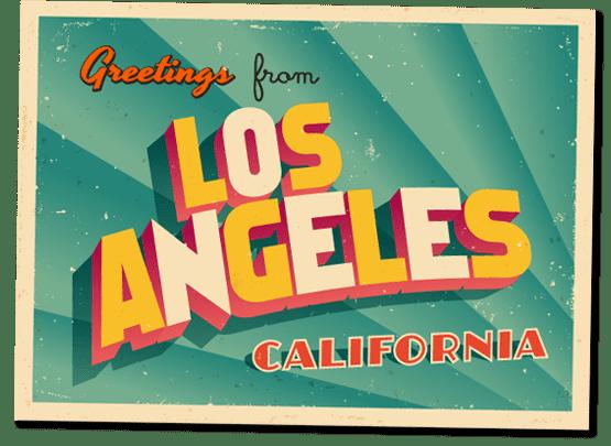 LA postcard