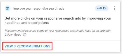 Ad Suggestions Recommendations