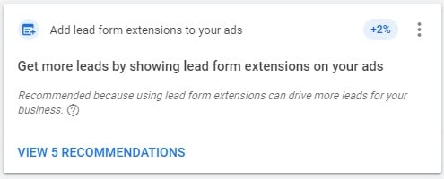 Lead Form Extensions