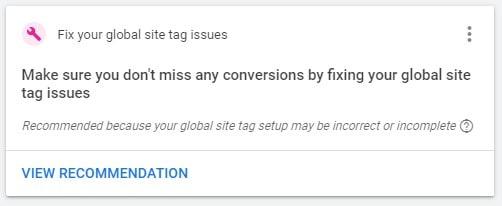 Repairs Fix Site Tag